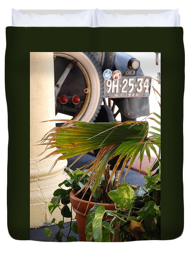 Ford Duvet Cover featuring the photograph 1926 Model T And Plants by Rob Hans