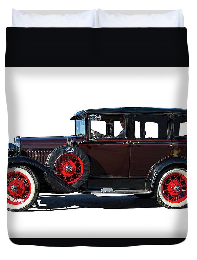 Ford Duvet Cover featuring the photograph Beautiful Ford Sedan by Nick Gray
