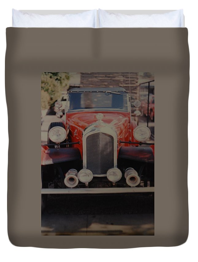 Car Duvet Cover featuring the photograph 1932 by Rob Hans