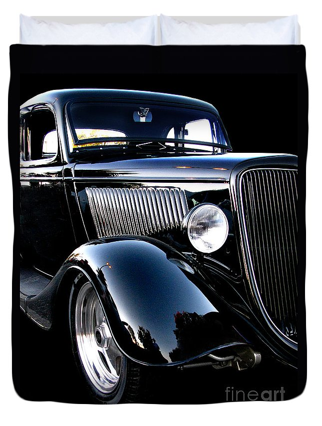 1934 Ford Coupe Duvet Cover featuring the photograph 1934 Ford Coupe by Peter Piatt