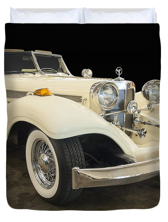 Cars Of The 1930s Duvet Cover featuring the photograph 1934 Mercedes Benz 500k Roadster by Chris Flees