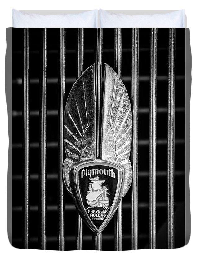1934 Plymouth Emblem 2 Duvet Cover