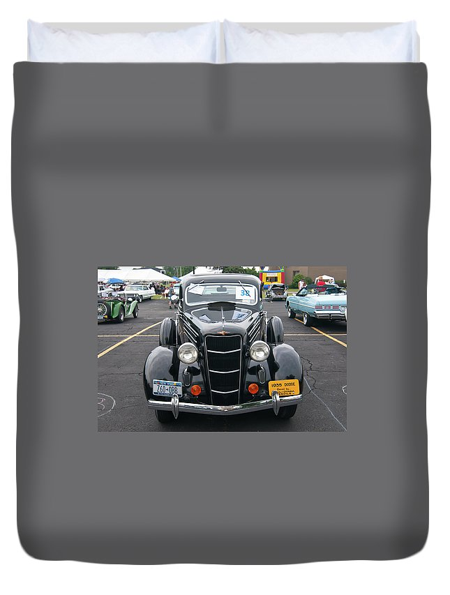 Antique Car Duvet Cover featuring the photograph 1935 Dodge 2019 by Guy Whiteley