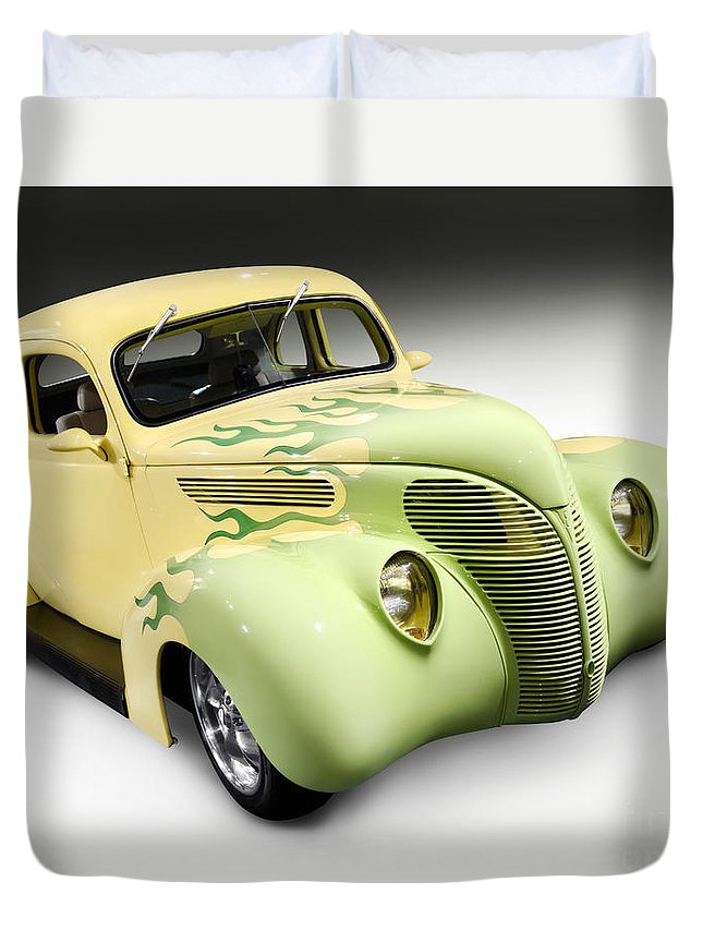 Hot Rod Duvet Cover featuring the photograph 1938 Hot Rod Ford Coupe by Oleksiy Maksymenko