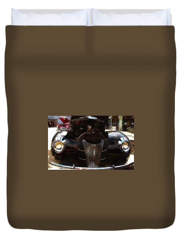 39 Ford Coupe Duvet Cover featuring the photograph 1940 Ford Coupe by Thom Zehrfeld