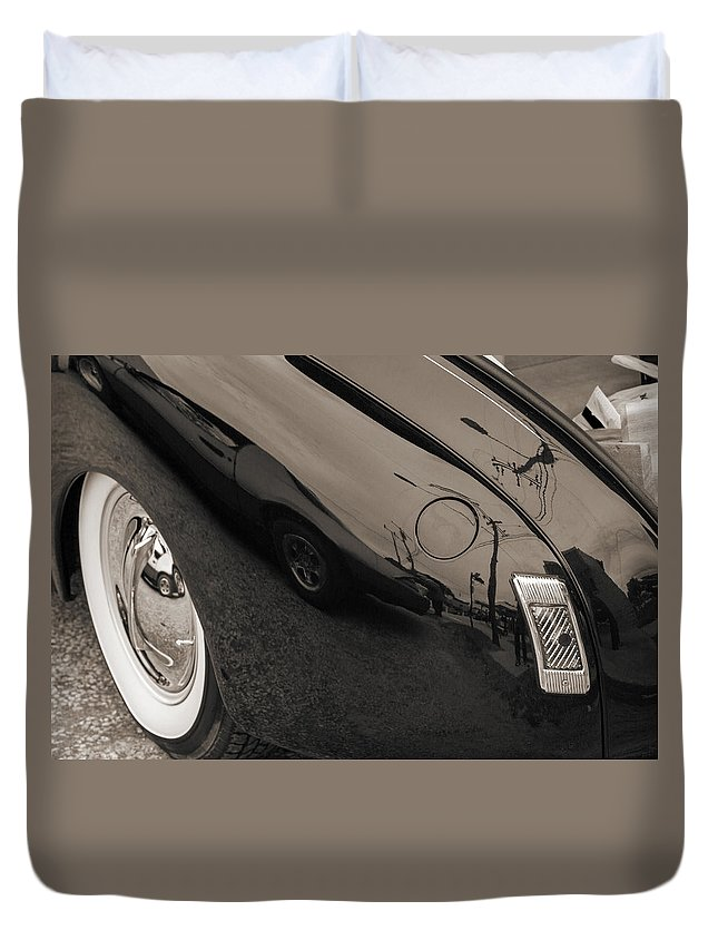 1940 Mercury Eight Convertible Duvet Cover featuring the photograph 1940 Mercury Convertible Vintage Classic Car Photograph 5218.01 by M K Miller