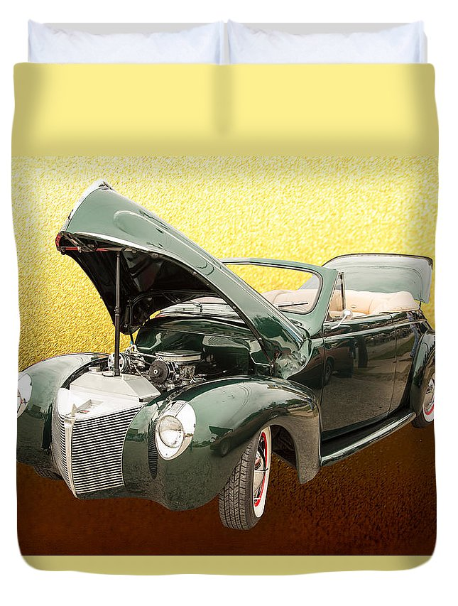 1940 Mercury Eight Convertible Duvet Cover featuring the photograph 1940 Mercury Convertible Vintage Classic Car Photograph 5224.02 by M K Miller