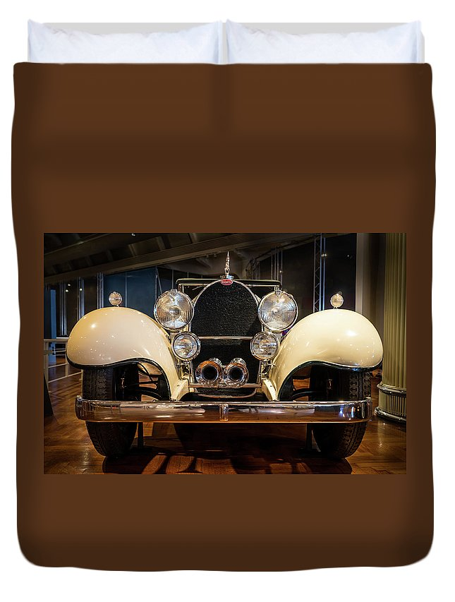 Detroit Duvet Cover featuring the photograph 1941 Bugatti Type 41 Royale At The Henry Ford Museum by Edward Nowak