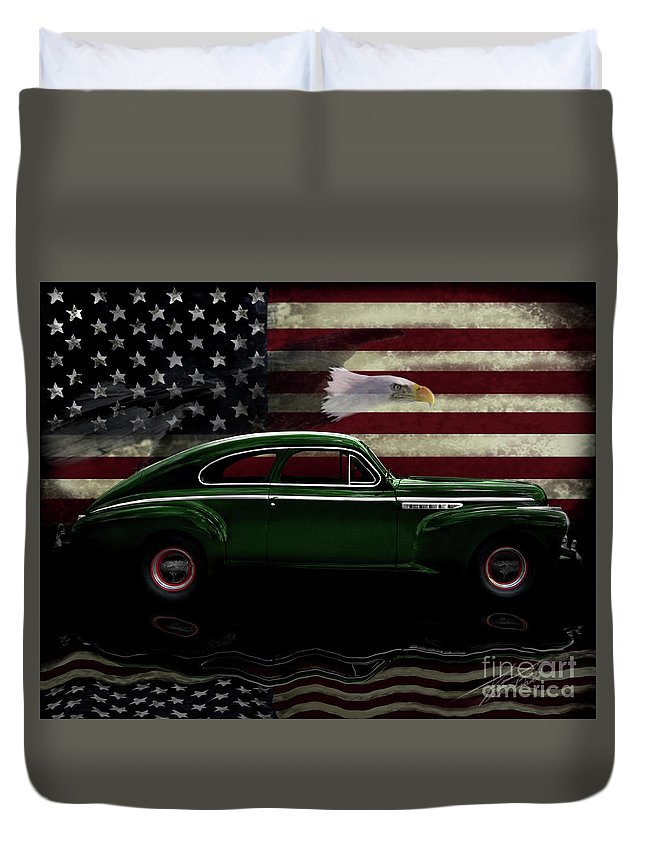 1941 Buick Century Fastback Duvet Cover featuring the photograph 1941 Buick Century Tribute by Peter Piatt