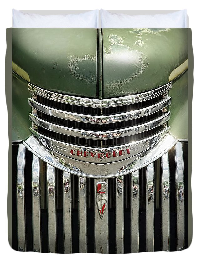 1946 Duvet Cover featuring the photograph 1946 Chevrolet Pick Up by Gordon Dean II