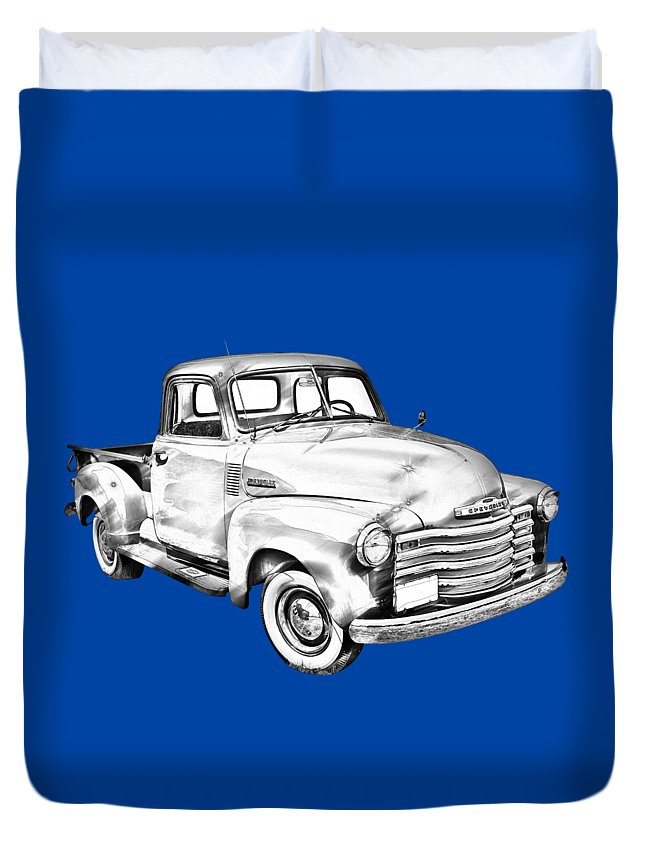 Chevrolet Duvet Cover featuring the photograph 1947 Chevrolet Thriftmaster Pickup Illustration by Keith Webber Jr