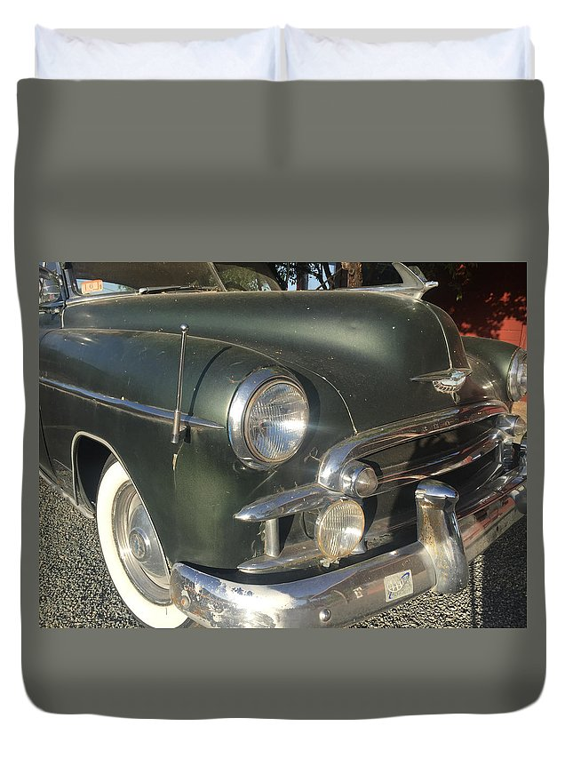 1950 Chevrolet Coupe Duvet Cover featuring the photograph 1950 Chevrolet Coupe by Melinda Fawver