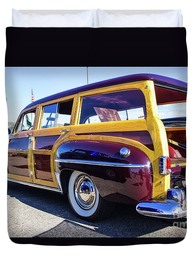 Woody Duvet Cover featuring the photograph 1950 Chrysler Royal Woody by Steven Parker