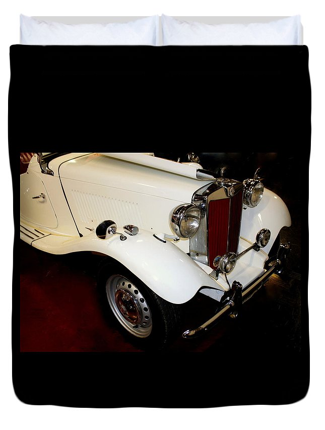 1951 Mg Duvet Cover featuring the photograph 1951 Mg by Rosanne Jordan