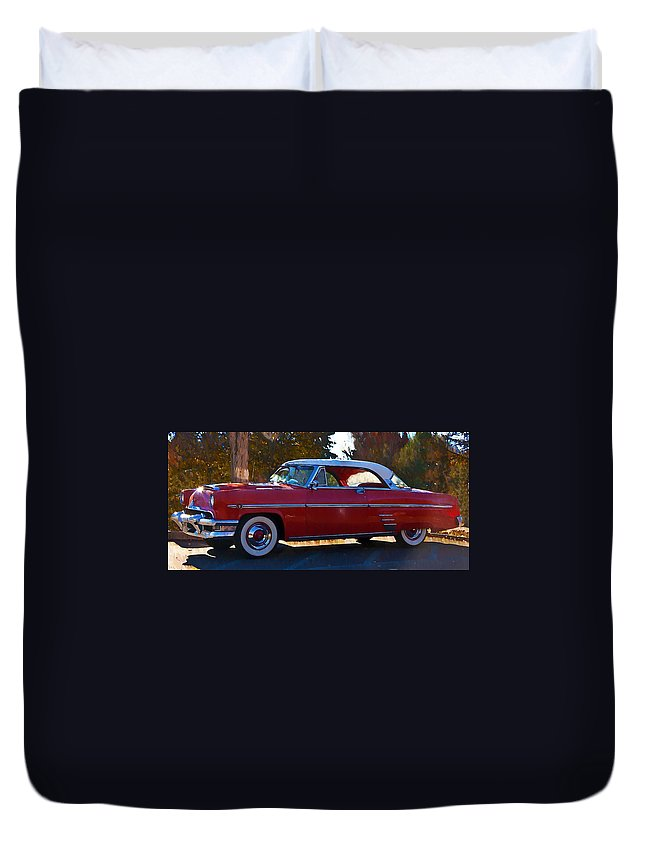 1954 Duvet Cover featuring the photograph 1954 Mercury Monterey by Bill Cannon