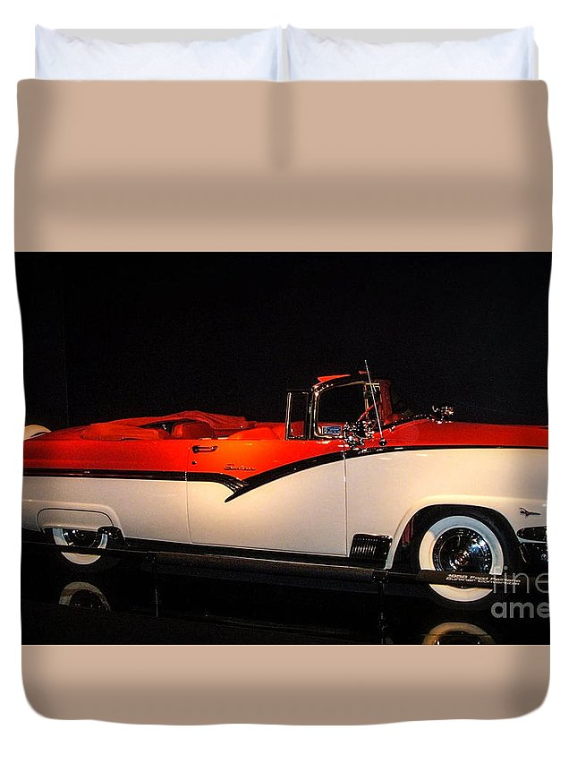 1956 Ford Fairlane Duvet Cover featuring the photograph 1956 Ford Fairlane Skyliner by Tommy Anderson