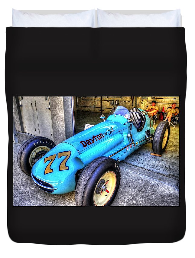 1956 Schroeder Roadster #77 Duvet Cover featuring the photograph 1956 Schroeder Roadster #77 by Josh Williams
