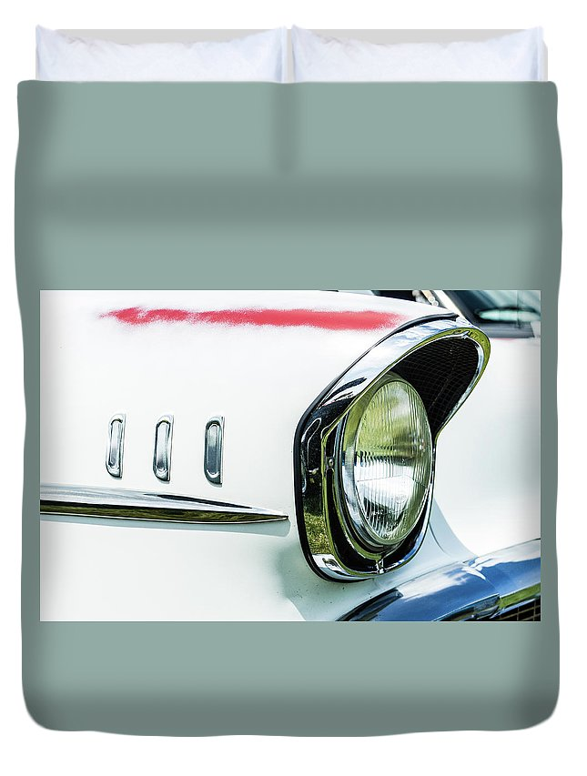 Gaetano Chieffo Duvet Cover featuring the photograph 1957 Chevy 210 by Gaetano Chieffo