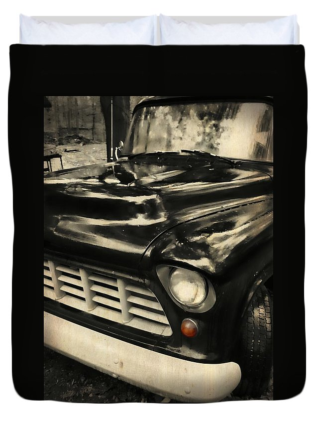 Truck Duvet Cover featuring the photograph 1957 Chevy by JAMART Photography