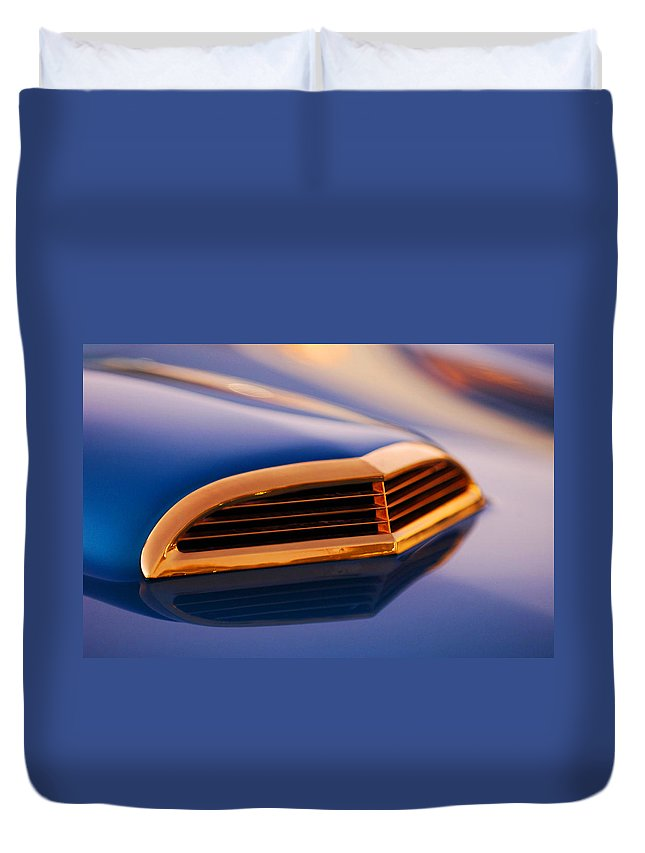 Classic Car Duvet Cover featuring the photograph 1957 Ford Thunderbird Scoop by Jill Reger