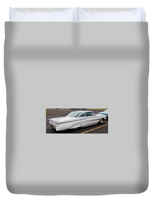 Antique Car Duvet Cover featuring the photograph 1960 Olds Eighty Eight 2023 by Guy Whiteley