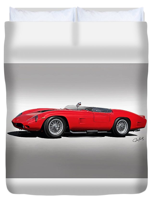 Auto Duvet Cover featuring the photograph 1961 Ferrari Tr61 Corsa Rosso by Dave Koontz