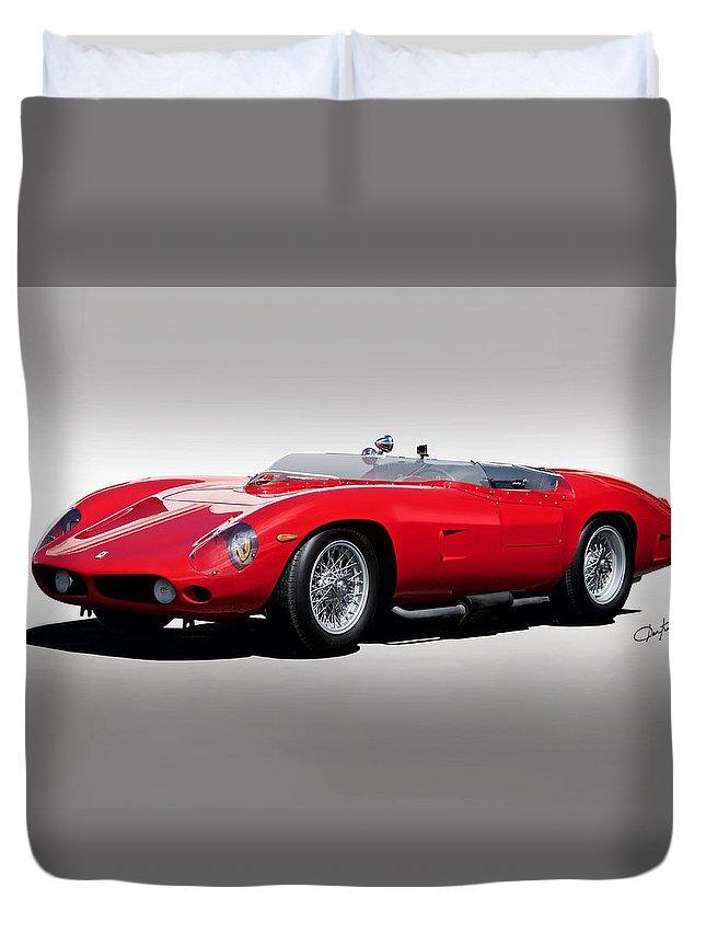 Auto Duvet Cover featuring the photograph 1961 Ferrari Tr61 Rossa Corso by Dave Koontz