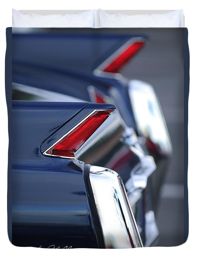 1962 Cadillac Deville Duvet Cover featuring the photograph 1962 Cadillac Deville Taillights by Jill Reger