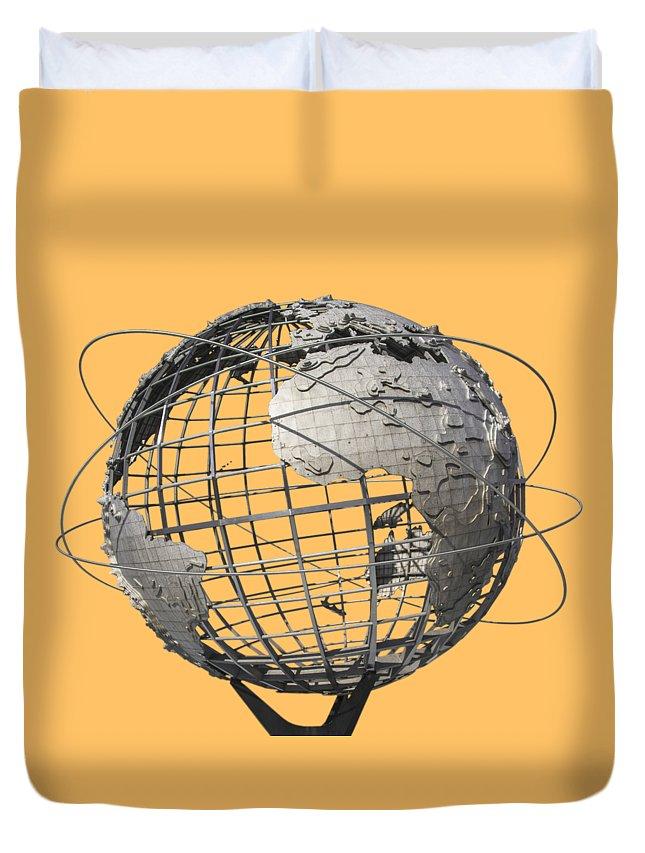Meadows Duvet Cover featuring the photograph 1964 World's Fair Unisphere by Bob Slitzan