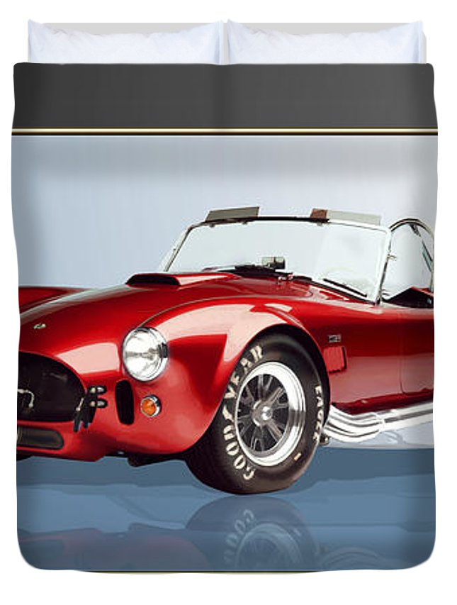 Art Duvet Cover featuring the photograph 1965 Red Shelby Cobra 427SC by Serge Averbukh