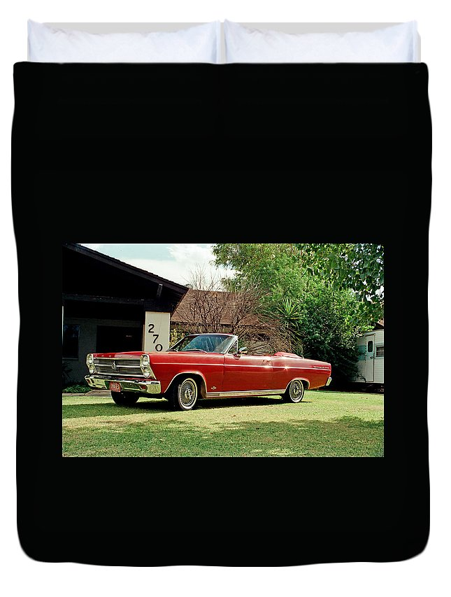 1966 Duvet Cover featuring the photograph 1966 Ford Fairlane 500 Convertible by Harrison Hanville