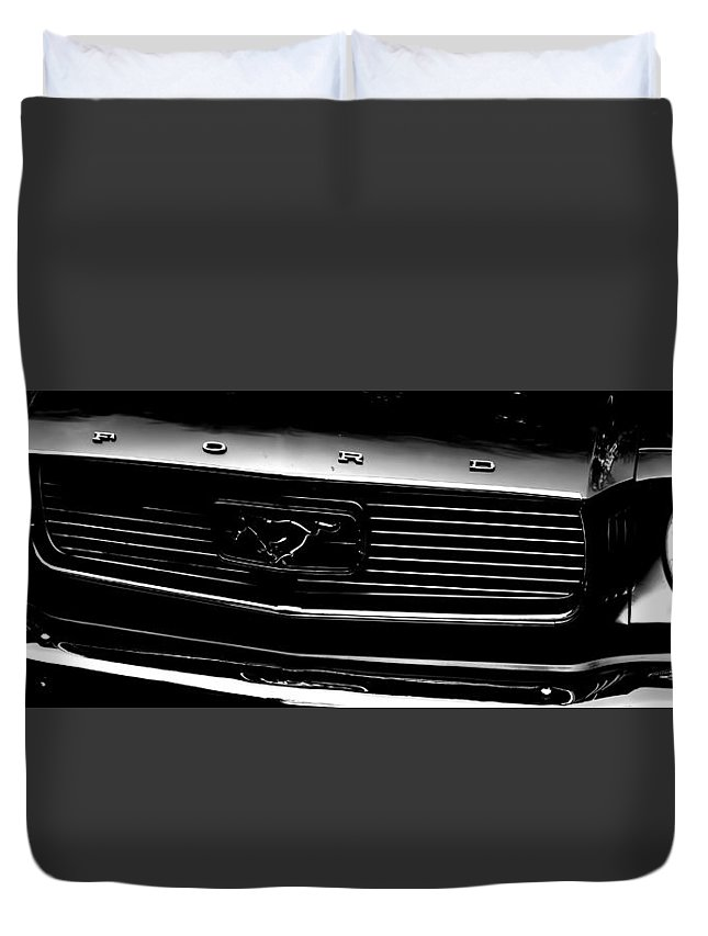 Ford Mustang Duvet Cover featuring the photograph 1966 Ford Mustang by Cathy Anderson