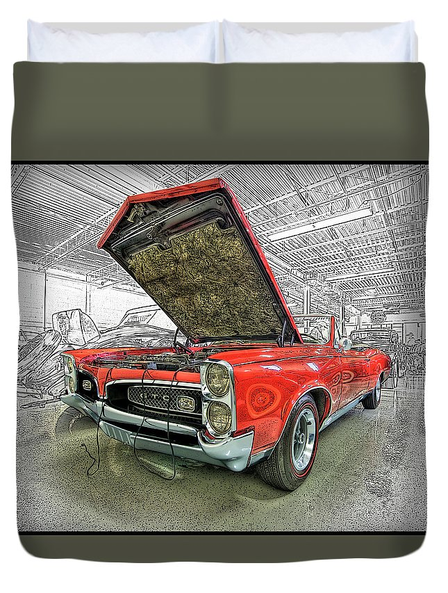 1967 Duvet Cover featuring the photograph 1967 Pontiac Gto American Muscle Car by Paul Cannon
