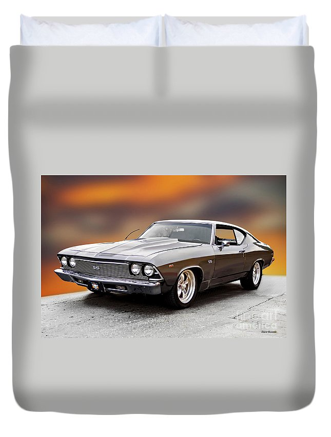 Automobile Duvet Cover featuring the photograph 1968 Chevrolet Chevelle Ss L by Dave Koontz