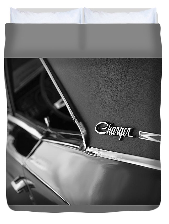 1968 Duvet Cover featuring the photograph 1968 Dodge Charger R/t by Gordon Dean II