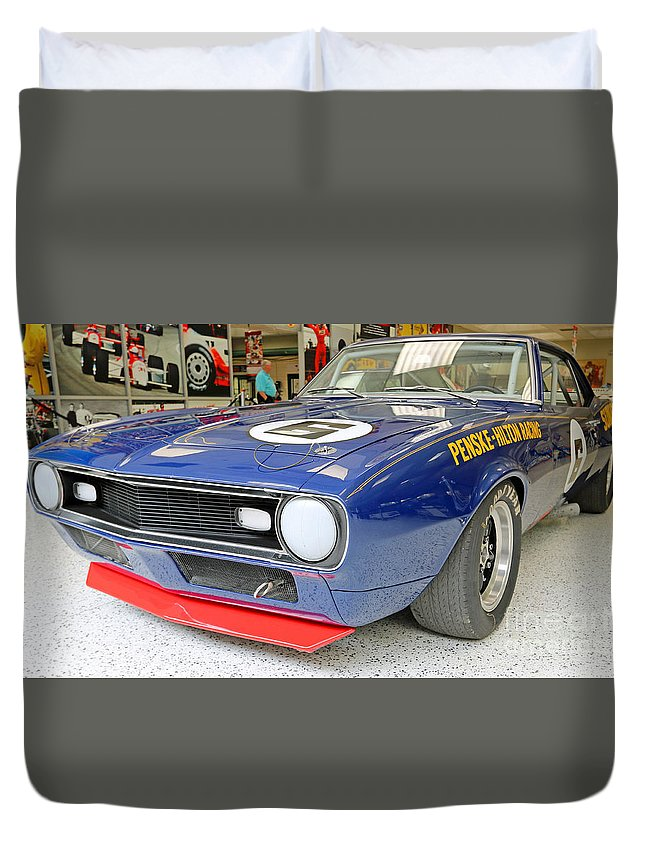 Indianapolis Duvet Cover featuring the photograph 1968 Trans-am Chevy Camaro by Steve Gass