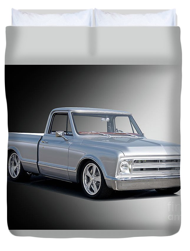 Automobile Duvet Cover featuring the photograph 1969 Chevrolet C10 Pickup 'studio' 2 by Dave Koontz