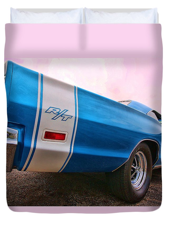 1969 Duvet Cover featuring the photograph 1969 Dodge Coronet Rt by Gordon Dean II