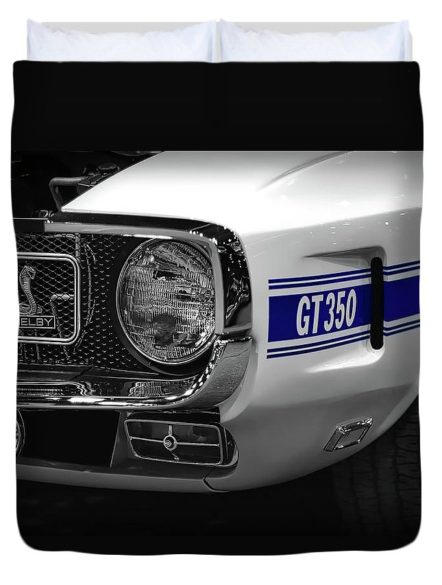 1970 Duvet Cover featuring the photograph 1969 Ford Mustang Shelby Gt350 1970 by Gordon Dean II