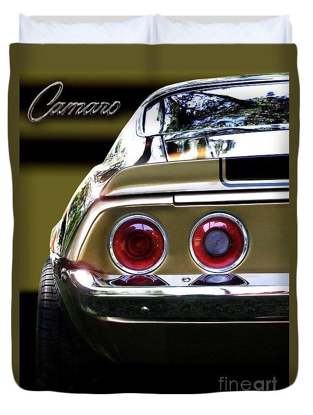 1970 Chevrolet Camaro Duvet Cover featuring the photograph 1970 Camaro Fat Ass by Peter Piatt