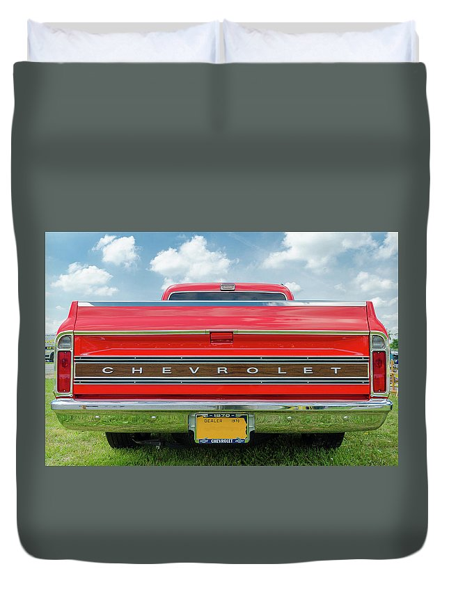 Gaetano Chieffo Duvet Cover featuring the photograph 1970 Chevrolet Cs-10 Pickup by Gaetano Chieffo