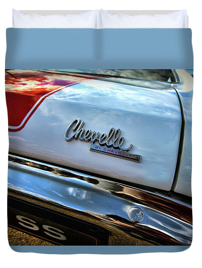 1970 Duvet Cover featuring the photograph 1970 Chevy Chevelle Ss 396 Ss396 by Gordon Dean II