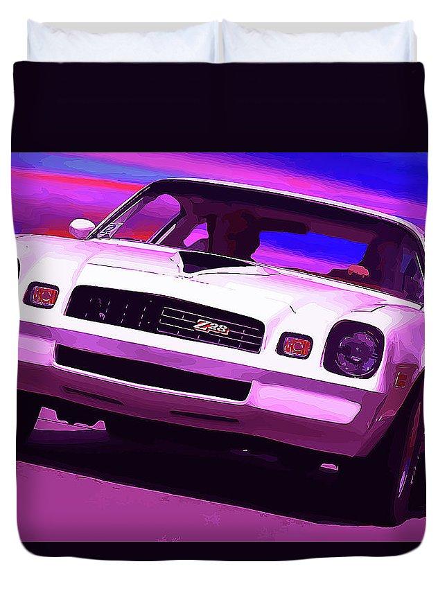 1977 Duvet Cover featuring the photograph 1978 Chevy Camaro Z28 by Gordon Dean II