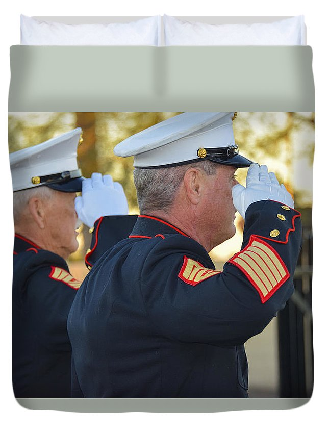 Marine Care Duvet Cover featuring the photograph Glory by Marit Runyon