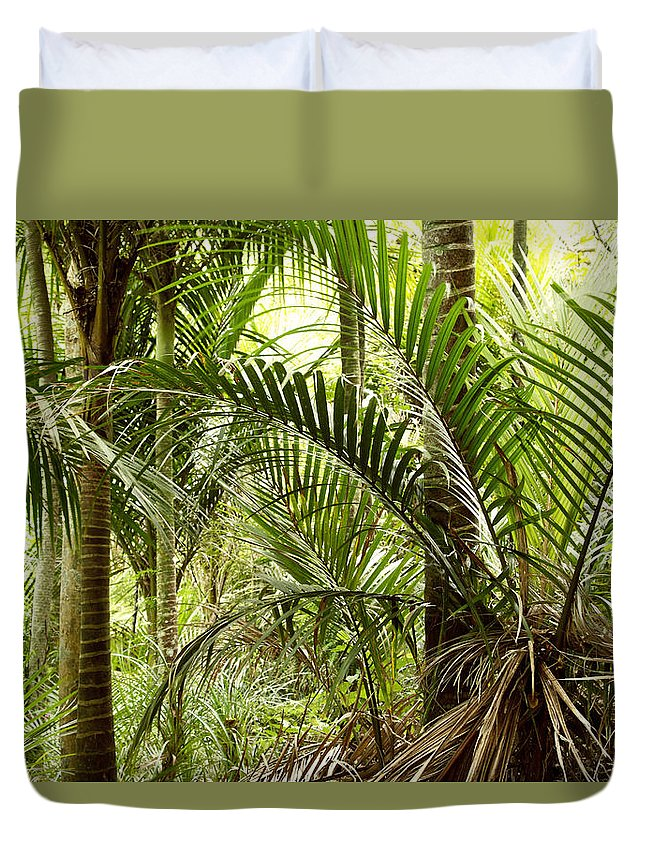 Rain Forest Duvet Cover featuring the photograph Jungle 94 by Les Cunliffe