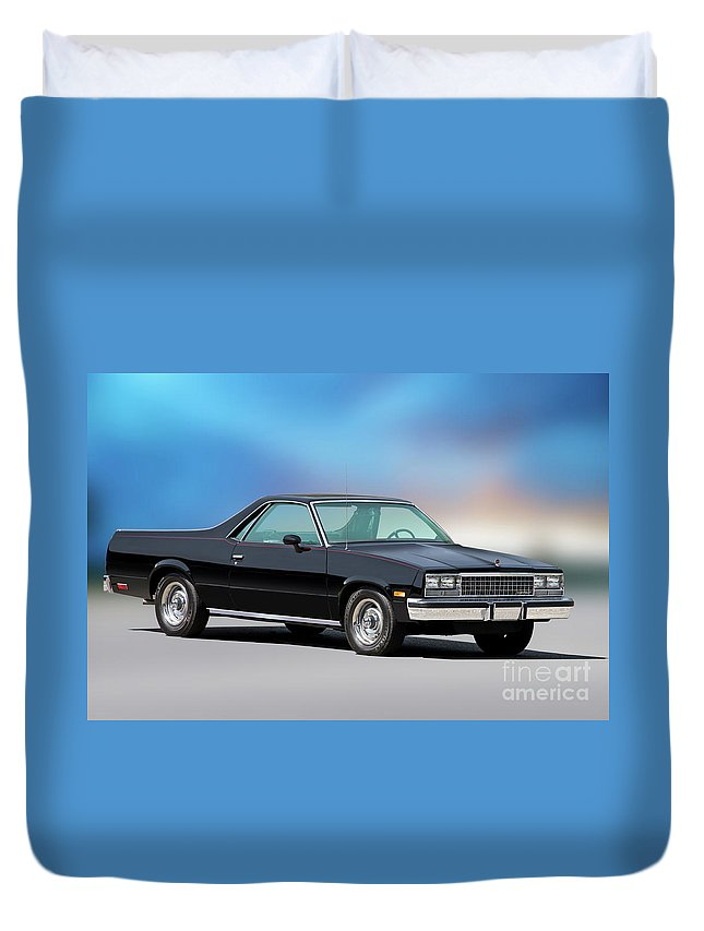 Automobile Duvet Cover featuring the photograph 1983 Chevrolet El Camino 2 by Dave Koontz