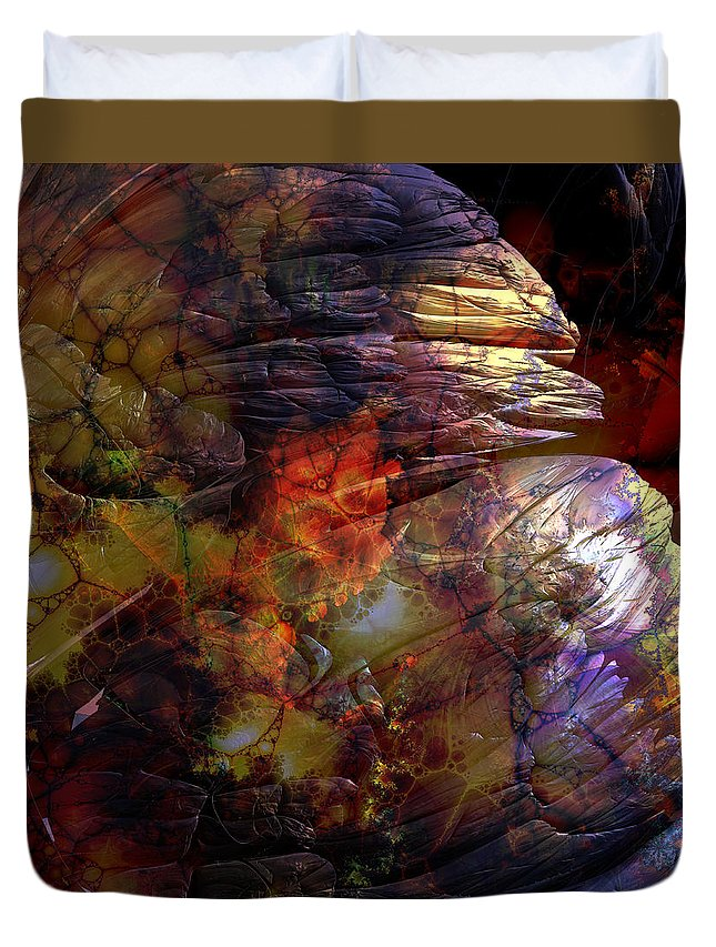 Abstract Duvet Cover featuring the digital art 1999 12 12 by Bill Ellsworth