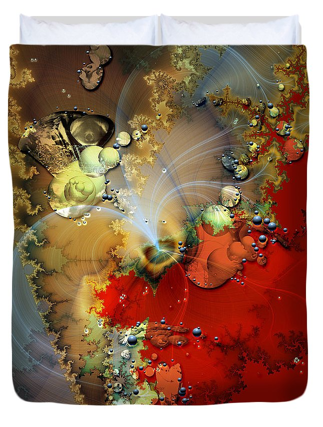 Abstract Duvet Cover featuring the digital art 1999 12 2 by Bill Ellsworth