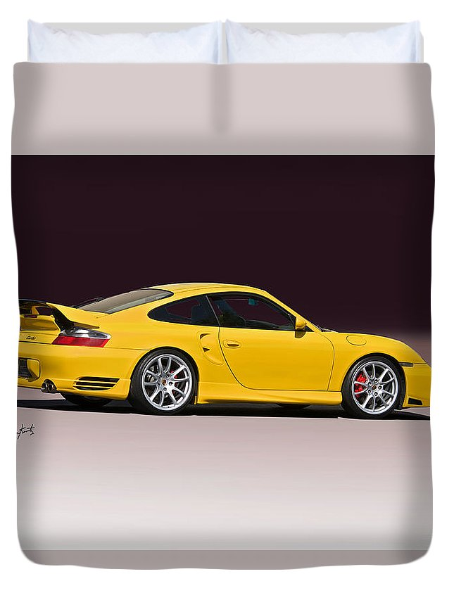 Auto Duvet Cover featuring the photograph 2001 Porsche 911 Turbo by Dave Koontz