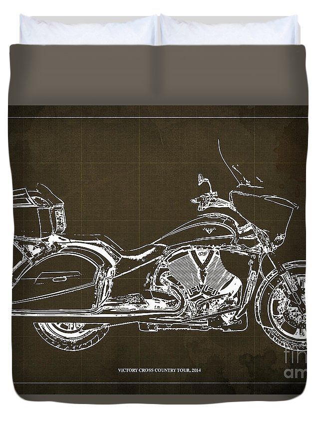 2014 victory cross country tour blueprint duvet cover for sale by 2014 victory cross country tour duvet cover featuring the digital art 2014 victory cross country tour malvernweather Gallery